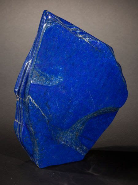 rich blue lapis lazuli free form afghanistan this polished