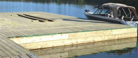 How To Build A Wooden Dock Crib by Clearwater Builders Temagami Ontario