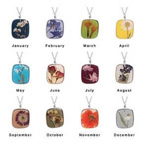 Birth month flower necklaces frugal novice
