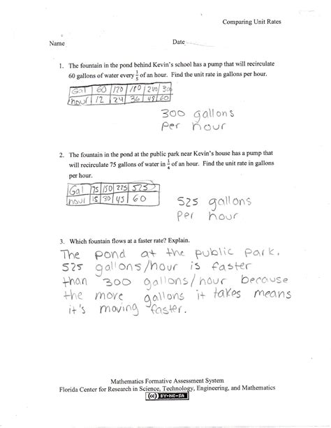 printable math worksheets unit rate unit rates worksheet 7th grade worksheets releaseboard