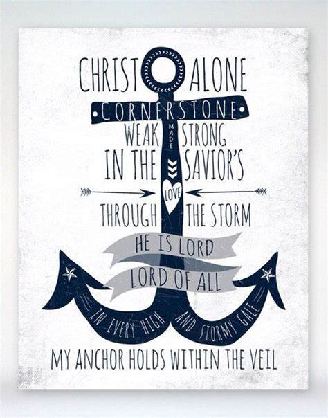 Anchor Print Inspirational Print Quot - inspirational quotes with anchor quotesgram