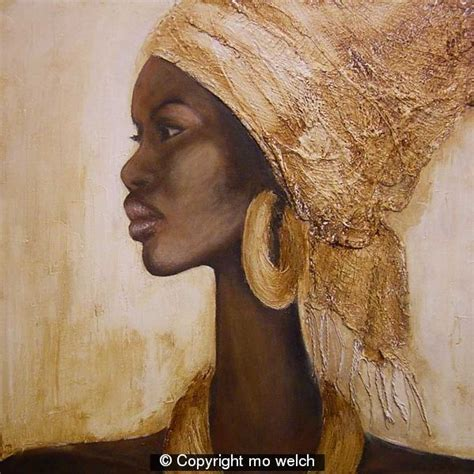 pinterest black woman with headscarf african woman with headscarf acrylic mixed media