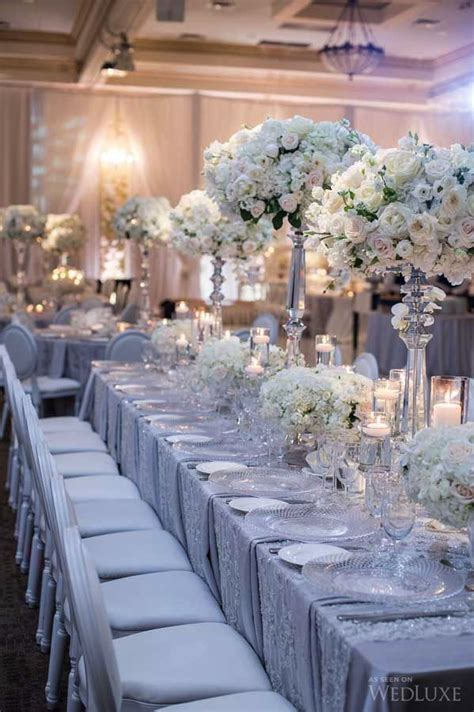 silver wedding decorations