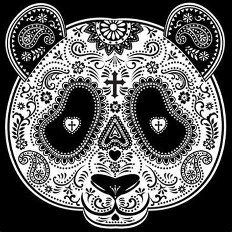sugar skull panda panda sugar skull garden flag