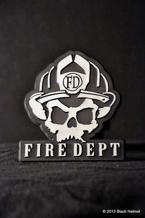 Helm Sticker Feuerwehr by Skull Logo Trailer Hitch Cover Black Helmet Firefighter