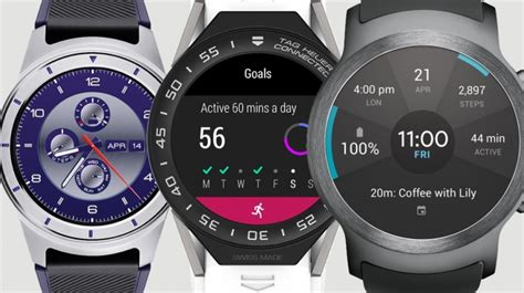 best android watches the best android wear smartwatches lg tag heuer huawei asus polar and more