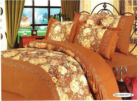 fall bedding china bedding set autumn rosy 8690 5 china silk