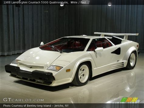 White Lamborghini Countach For Sale White 1988 Lamborghini Countach 5000 Quattrovalvole