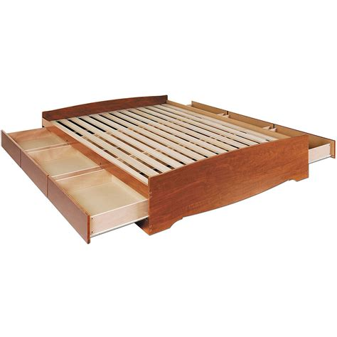 platform bed queen with storage queen platform storage bed in beds and headboards