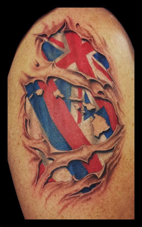 torn skin template hawaiian flag ripping through skin by jasonhanks on