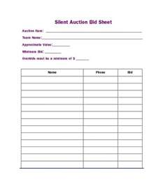 Silent Auction Bid Sheet Template by 40 Silent Auction Bid Sheet Templates Word Excel