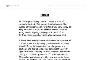 Hamlet Essays On by Discussing Dramatic Devices In Hamlet Gcse Marked By Teachers