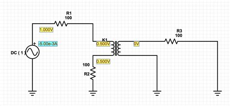 coupled inductor inductance transformer help with coupled inductor using partsim electrical engineering stack exchange