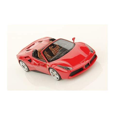 Ls451b 1 ferrai 488 spider rosso corsa frankfurt motorshow 2015 looksmart ls451b miniatures minichs