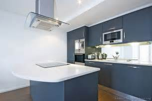 Kitchen With Blue Cabinets Modern Blue Kitchen Cabinets Pictures Design Ideas