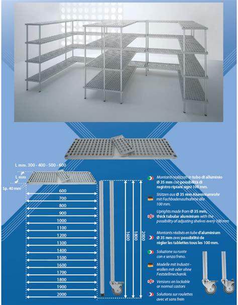 scaffale magazzino scaffale per cella frigorifera o magazzino cm 90x30x200h