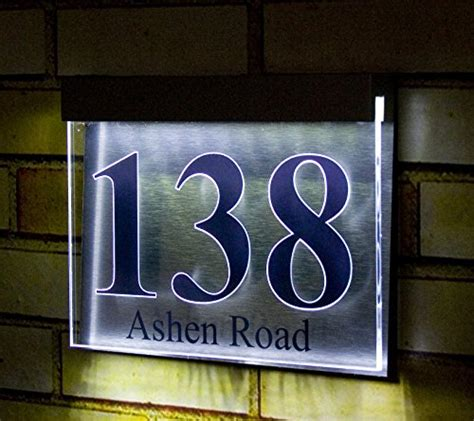 designer house numbers led light acrylic designer house number plaque picture 002 american home improvement