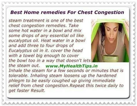 Home Remedy For Chest Congestion by Home Remedies For Chest Congestion Bug Bites Sickness Pin