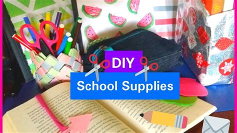 diy school supplies for diy school supplies for back to school
