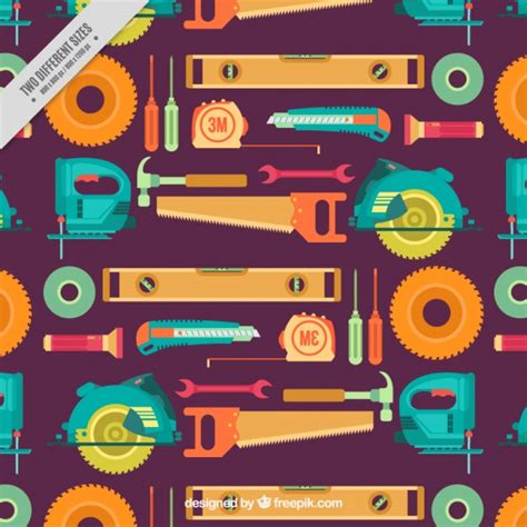 download pattern st tool pattern of tools in flat design vector free download
