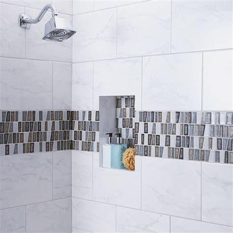 american olean mooreland carrara white glazed ceramic indoor outdoor wall tile common 9 in x
