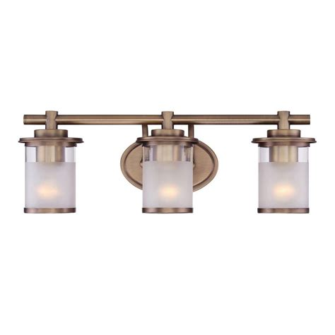 polished brass vanity lights bathroom glomar nuwa 2 light polished brass bath vanity light with