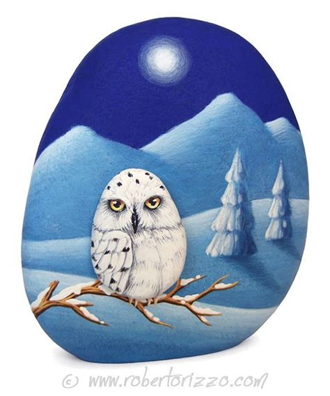 Pet Rock Snowy 17 best images about my painted rocks and more on painted owls pet portraits