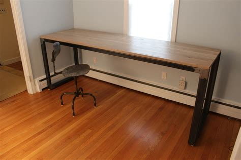 work bench desk handmade modern industrial desk work bench by k modern