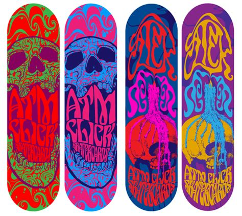 Skateboard Design Ideas by Atm Click Skateboards Richard Vaughan Graphic Design