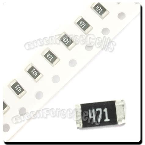 470 ohm surface mount resistor 50 pcs smd smt 1206 chip resistors surface mount 470r 470ohm 471 5 rohs ebay