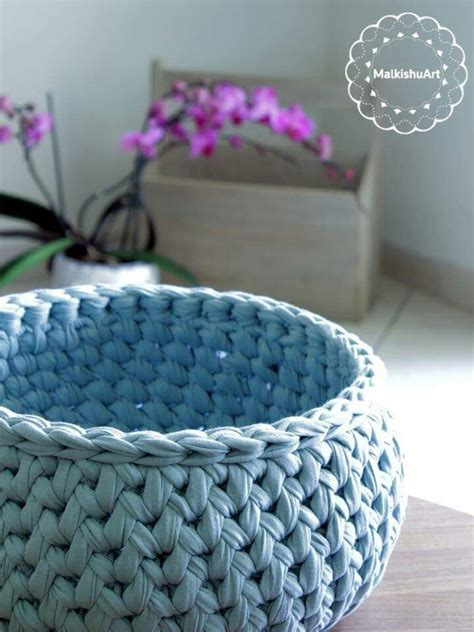 crochet pattern for yarn basket my new crochet basket made with tshirt yarn a round