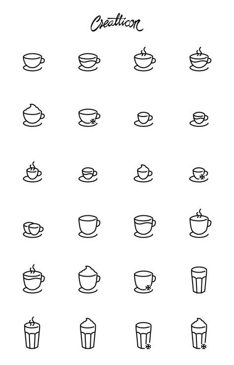Line Simple Quality high quality free coffee shop icon set svg ai eps png