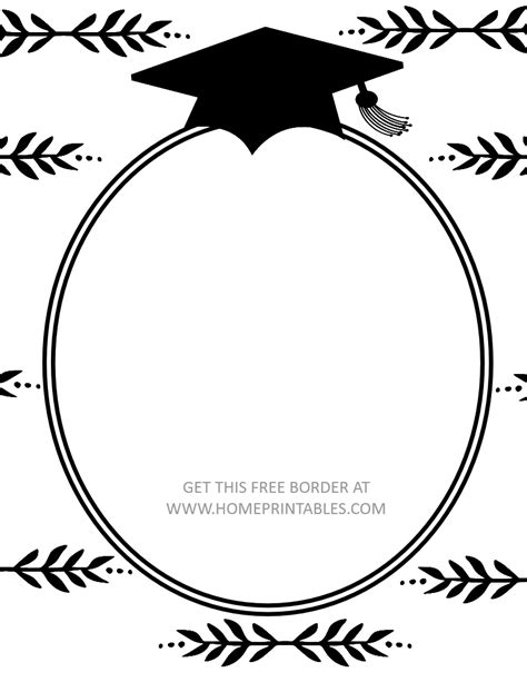 Free Printable Graduation Cards 15 free graduation borders with 5 new designs home