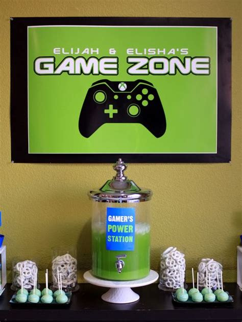 xbox 360 themed birthday party video games birthday party see more party ideas at