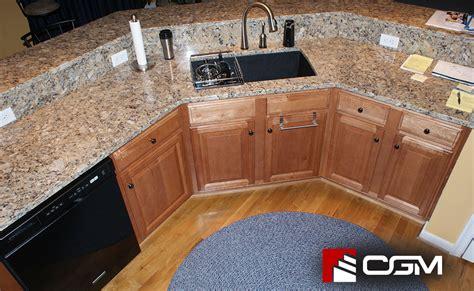 giallo napoleone classic granite kitchen countertops