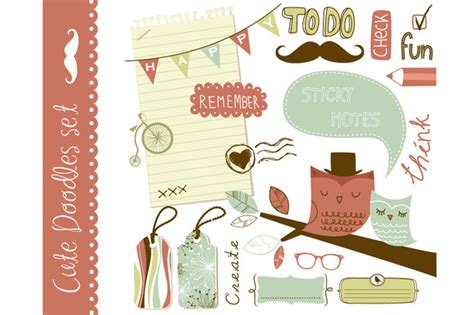 Clipart For Scrapbooking clip scrapbooking elements illustrations on creative market