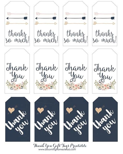 printable letter gift tags thank you gift tags homesteads free printable and gift