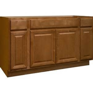 60 Inch Kitchen Sink Base Cabinet Hton Bay 60x34 5x24 In Cambria Sink Base Cabinet In Harvest Ksb60 Chr The Home Depot