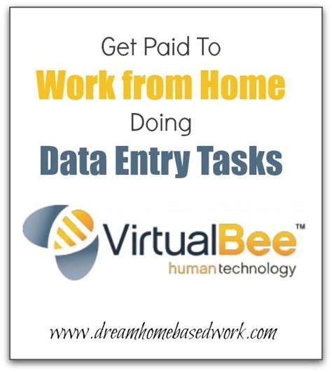 data entry from home and bees on
