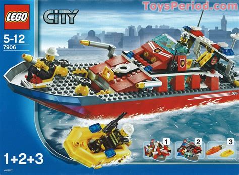 lego grey boat lego 7906 fire boat set parts inventory and instructions