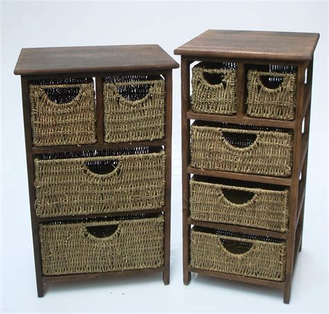 Seagrass Drawers by 4 Or 5 Chest Of Drawers Draws Wooden Seagrass Livingroom