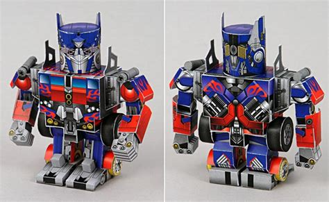 Transformers Papercraft Optimus Prime - make your own papercraft through sf paper craft gallery