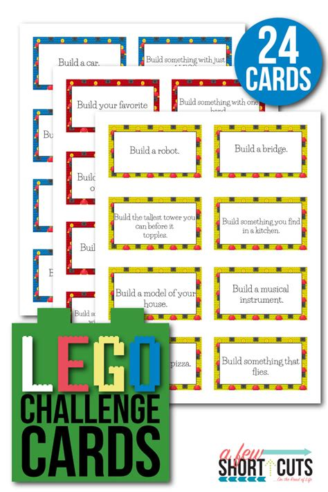 lego challenges for children free printable lego challenge cards a few shortcuts