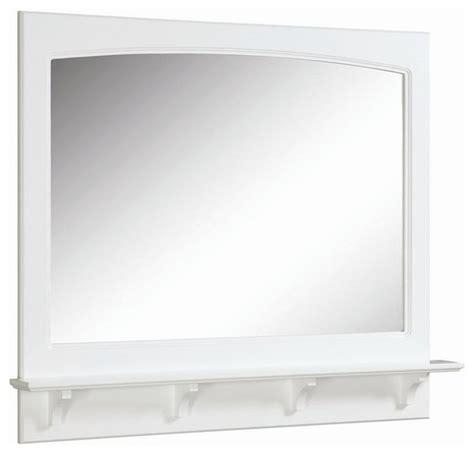 contemporary bathroom mirror with glass shelf concord 38 in mirror w shelf contemporary bathroom