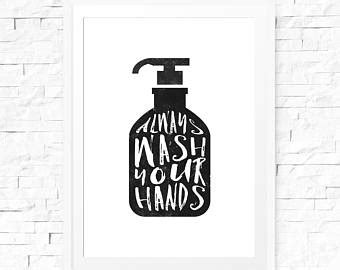 bathroom signs wash your hands wash your hands sign etsy