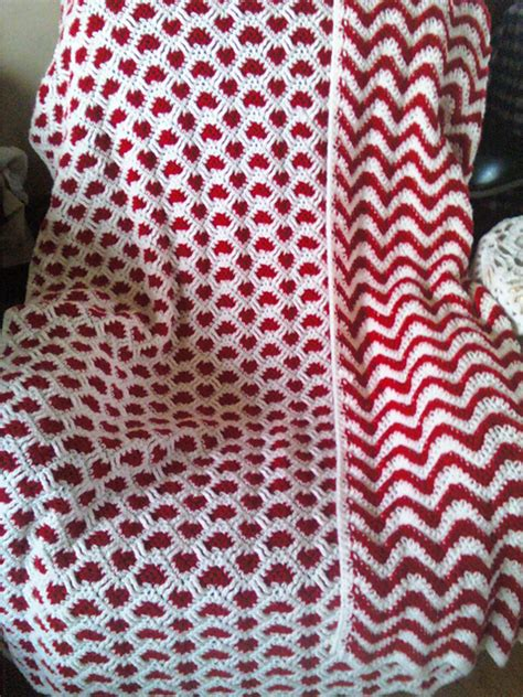 reversible ripple afghans free pattern debbi a1 sweetheart ripple finished