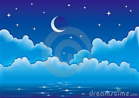 sol y la luna nubes estrellas vector de stock 169 son vector el paisaje marino con las nubes la luna y las