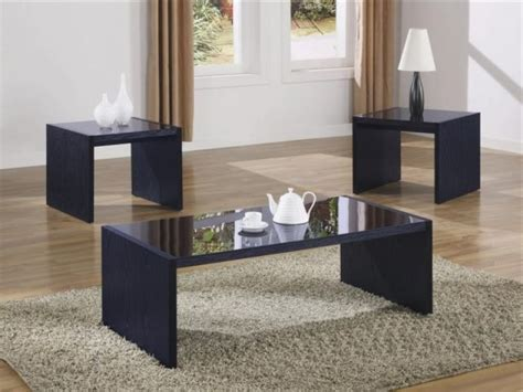 Black Coffee Table Set Black Glass Coffee Table Set Intended To Encourage Your Property Comfy Home