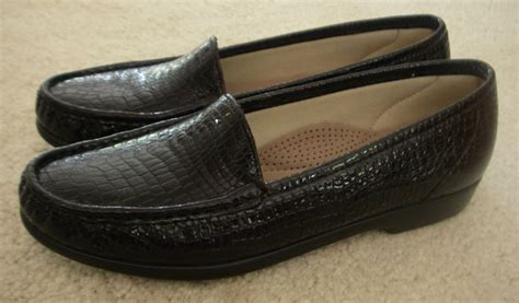 sas womens loafers sas s slip on black leather tripad comfort footbed