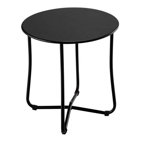 Garden Side Table Metal Garden Side Table In Black D 45cm Capsule Maisons Du Monde
